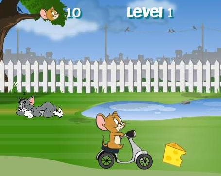 the game tom jerry backyard ride